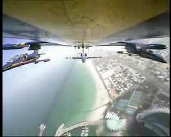 Dubaj - Přelet nad krásným městem