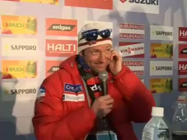 Norský sportovec a japonské interview