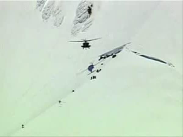 Záchranářská helikoptéra - nehoda