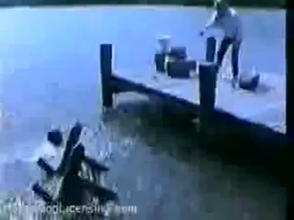 Chytání ryb - nebezpečná činnost