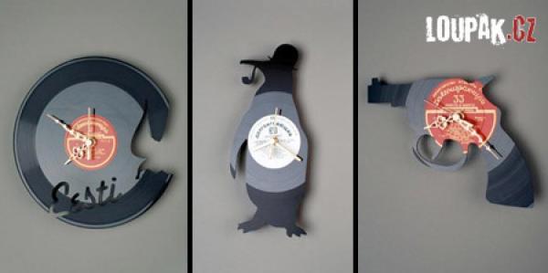 OBRÁZKY - Originální hodiny z vinylových desek