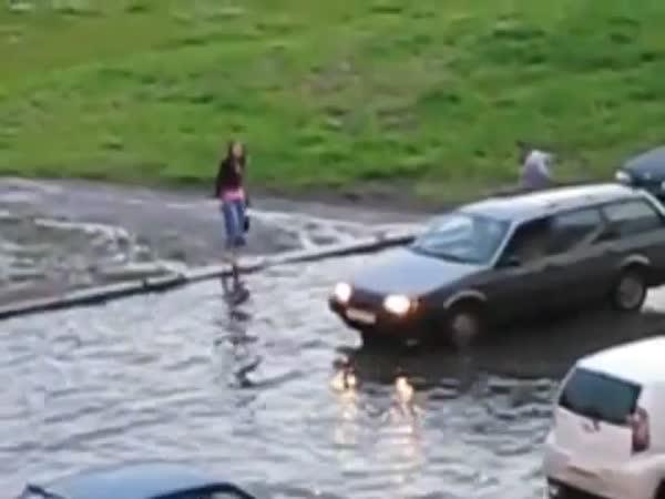 Zábava při přívalovým dešti