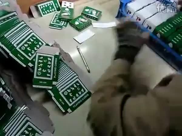 Čína - Balení hracích karet