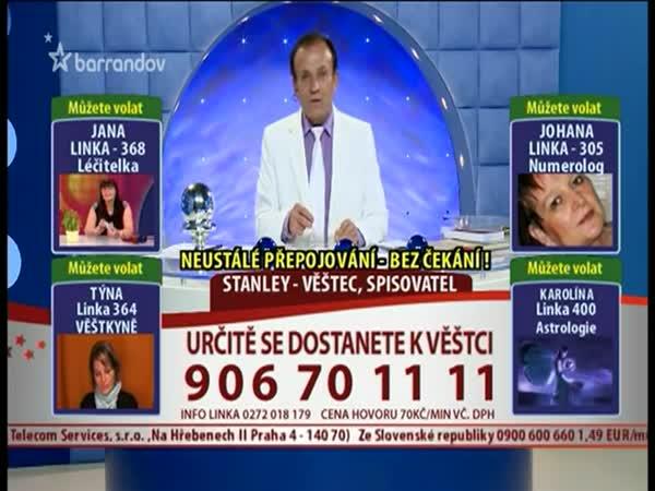 TV Barrandov - Věštec Stanley umí poradit