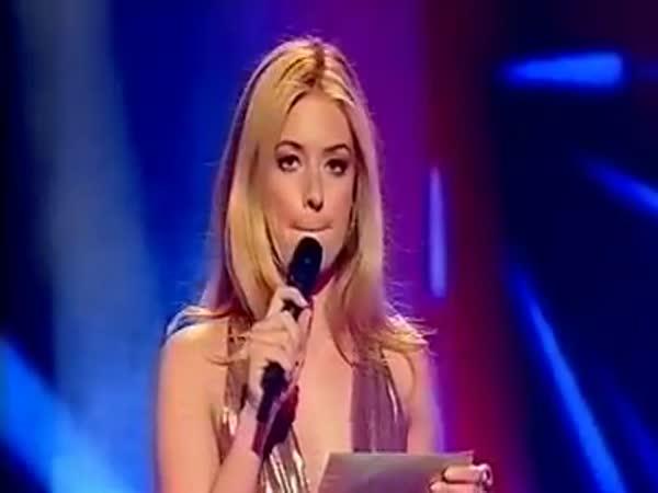 Talentová soutěž - Křehká moderátorka