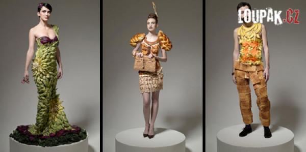 OBRÁZKY - Originální oblečení z jídla
