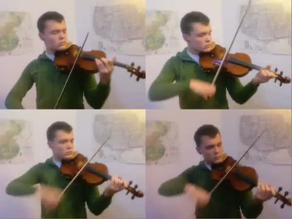 Vlastní orchestr na housle