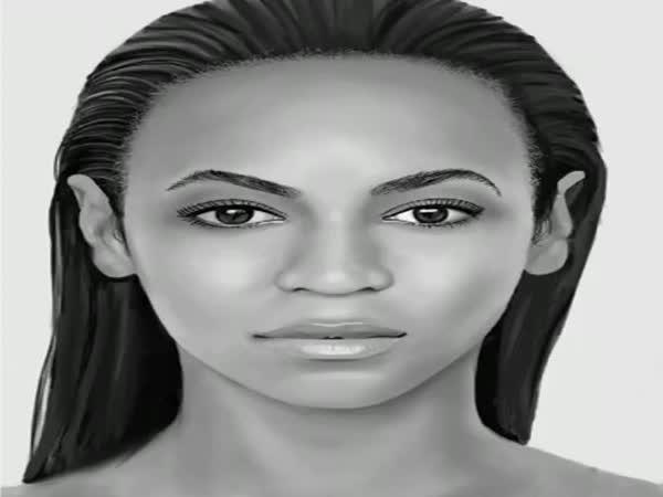 Nakreslní Beyoncé 1 prstem