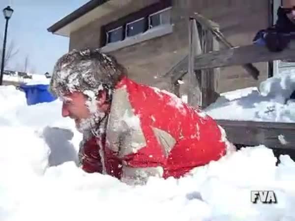 Skok do sněhu - fail