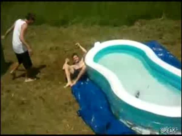Vodní klouzačka - fail