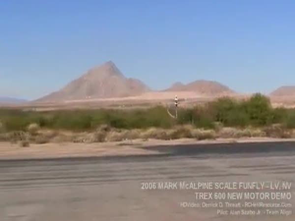 Borec - triky s RC vrtulníkem
