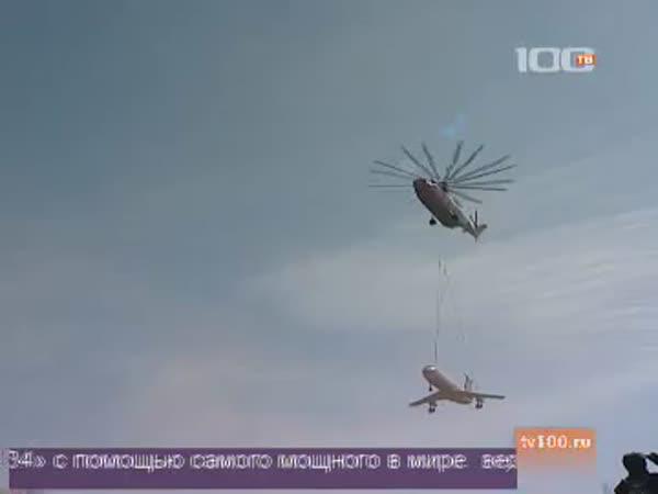 Donáška letadla vrtulníkem