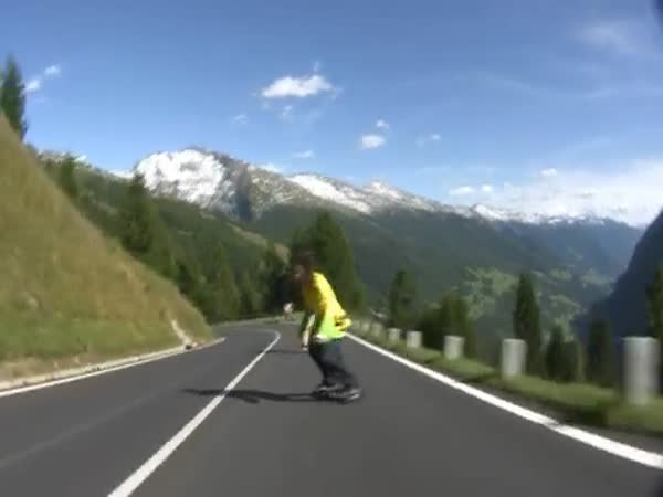 Freebording - rakouské silnice