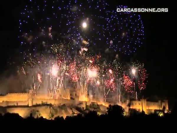 Ohňostroj oslav dobytí Bastily