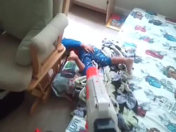 Nedělní probuzení od tatínka