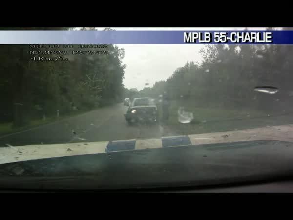 Česká republika - Čelní náraz do Policie