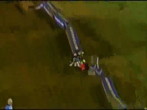 Supermotocrossové pády [kompilace]