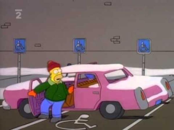 Simpsonovi - Homer parkuje 2