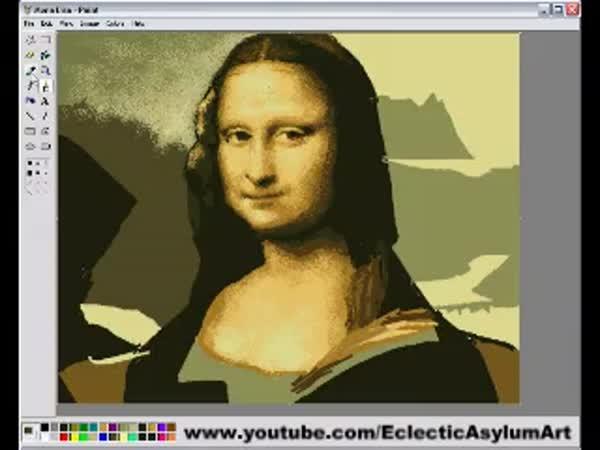 Borec - Mona Lisa v Malování