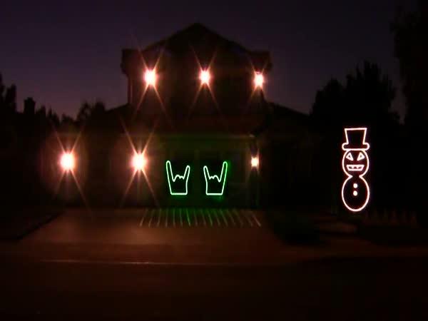Osvetlení domu k muzice