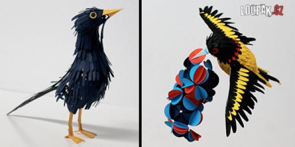 OBRÁZKY - Ptáci z papíru