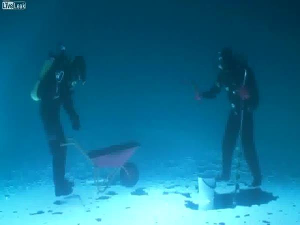 Rybaření pod vodou