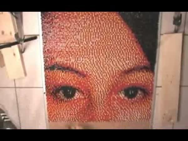 Borec - Obraz  ze špendlíků