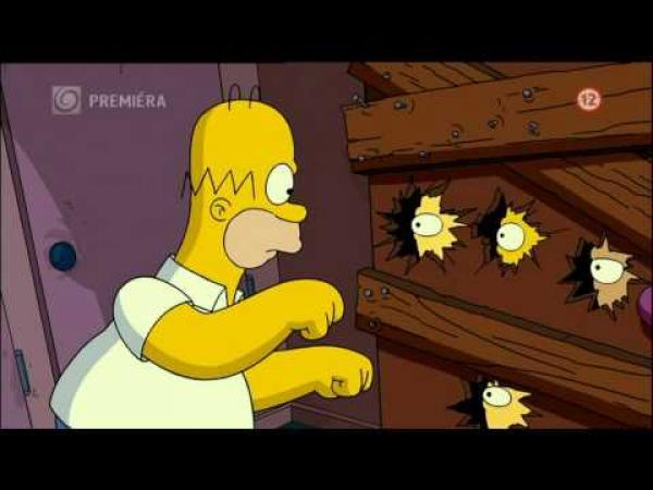 Simpsonovi - Homer s motorovkou