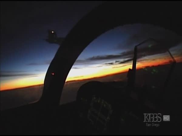 F18 Super Hornet - záběry z letu