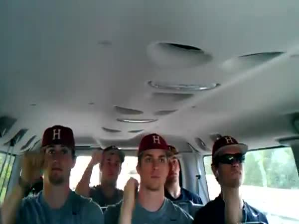 Basebalový team - cesta na zápas