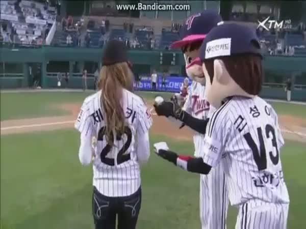 Baseball vs. Korejská modelka