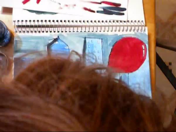 Timelapse - Kresba (Velký červený balon)