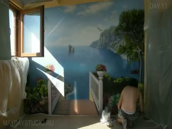 Neuvěřitelná malba doma na zeď