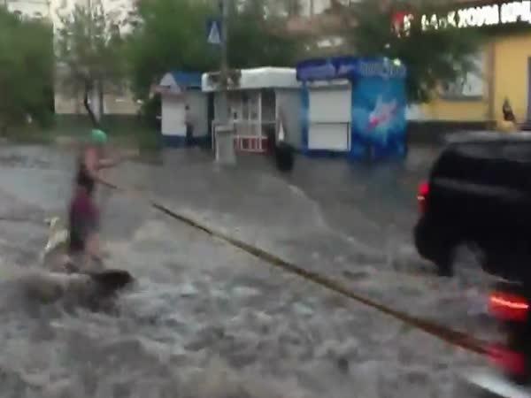 Wakeboarding v ulicích Ruska
