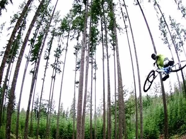 Vydařené skoky na kole