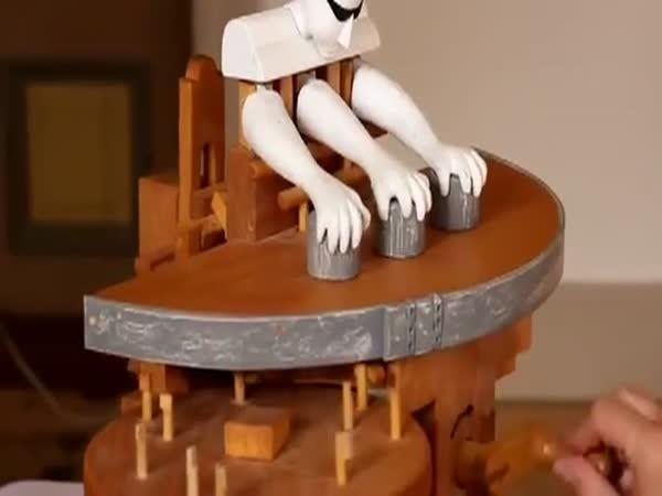Mechanický míchač - skořápky