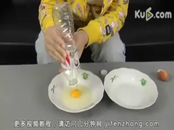 Vajíčko - Jak oddělit žloutek od bílku
