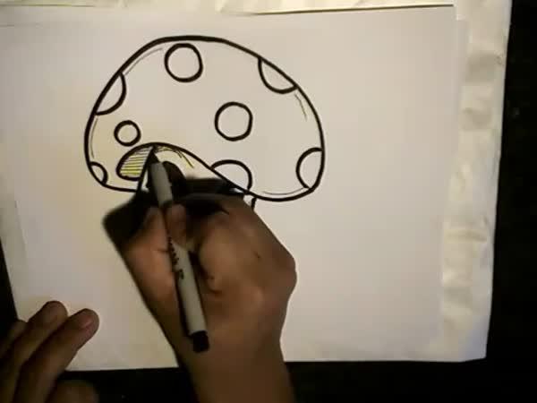 Jak nakreslit - Houba