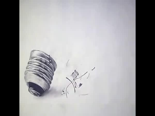 Timelapse - Kreslení žárovky