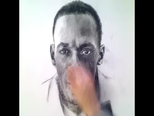 Kreslení - Usain Bolt