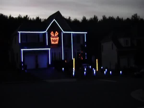 Světelná show  #2 - dům - Halloween