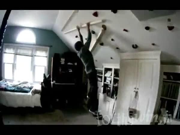 Jak doma trénují horolezci #2