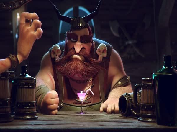 Animace - Viking v hospodě