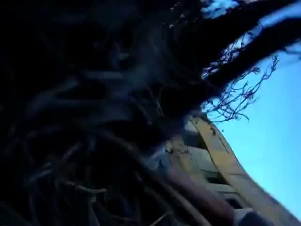 Airsoft - pád ze střechy