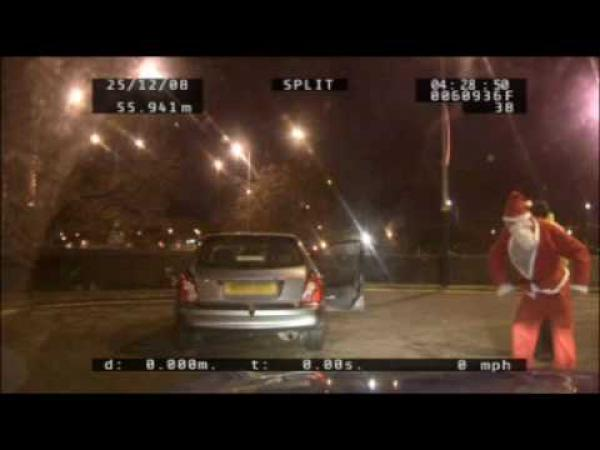 Opilý Santa Claus