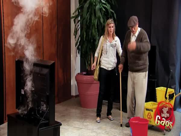 Nachytávka - Hořící televize