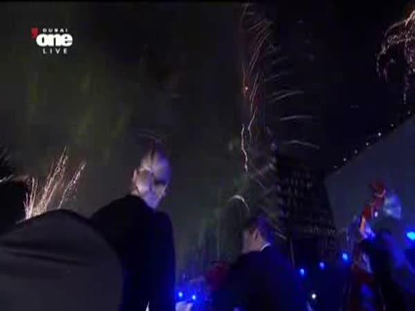 Dubaj - Novoroční ohňostroj