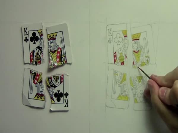 Borec - překreslení rozčtvrcené karty