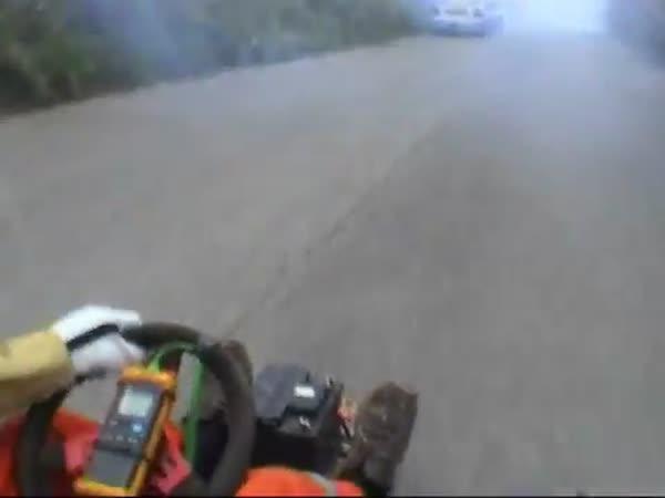 Borec - Trysková motokára