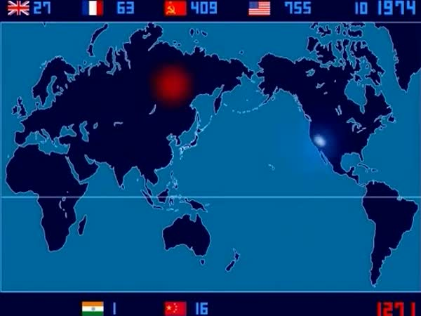 Timelapse - Nukleární výbuchy